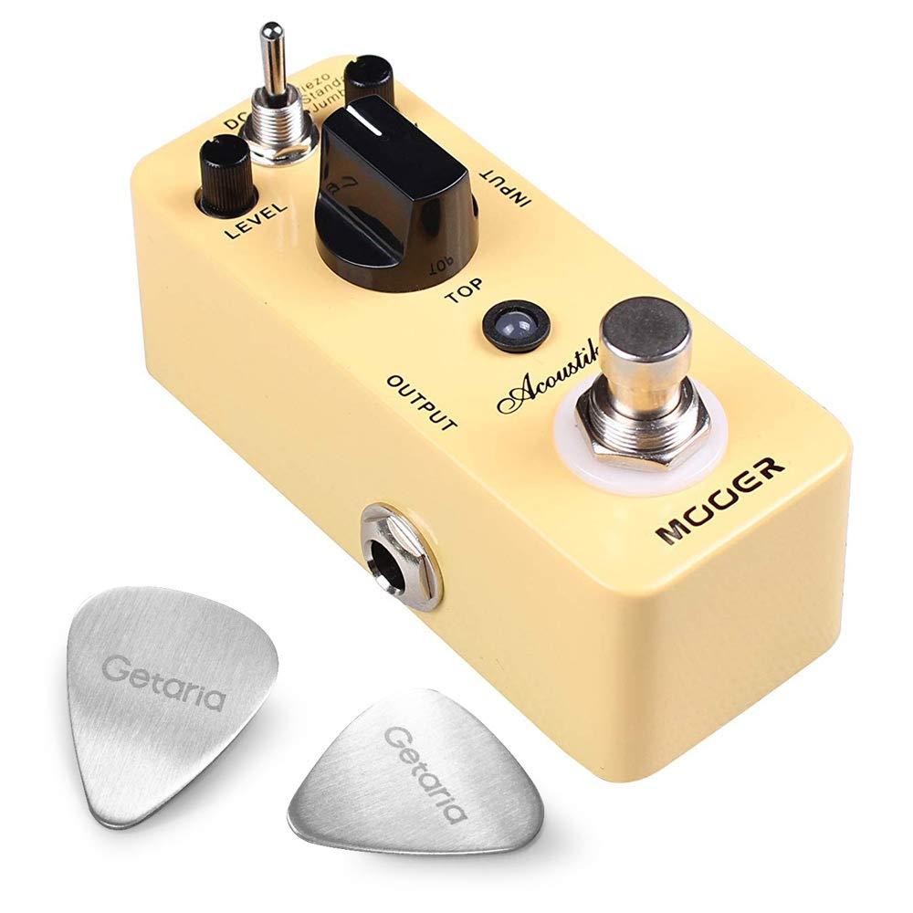 MOOER Guitar Effect Pedal Acoustic Guitar Effect Pedal Acoustikar With 2 Getaria Guitar Picks