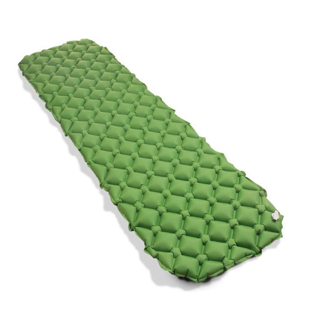 UICICI Il Rilievo di Sonno della Tenda di Campeggio - Il Singolo Cuscino Gonfiabile Automatico del PVC del Rilievo Gonfiabile Automatico a Prova d'umidità Unico può Essere Cucitura (Colore   verde)