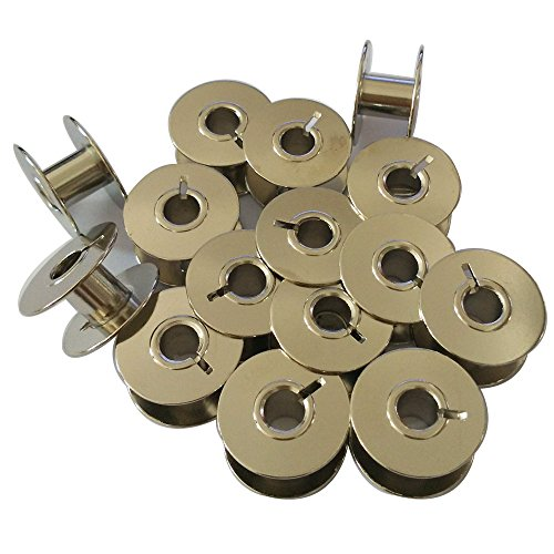(HONEYSEW Metal Bobbins for Singer Sewing Machine15-30 16 17 31-15 33K Consew 30 Class # 2996 (15PCS-BOBBINS))