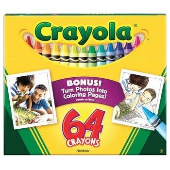 Crayola 64ct Crayon W/ Built In Sharpener