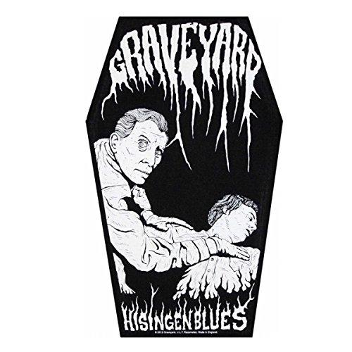 Graveyard Men's Hisingen Blues Back Patch Black (Coffin Patch)