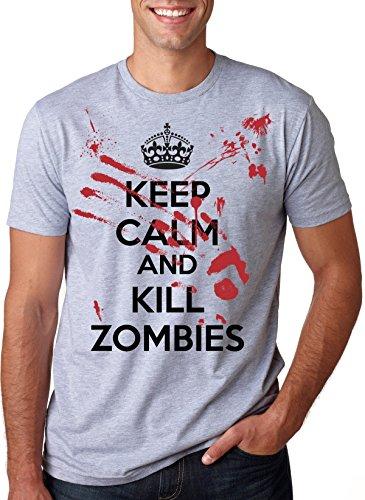 Keep Calm and Kill Zombies Mock Propoganda T-Shirt M