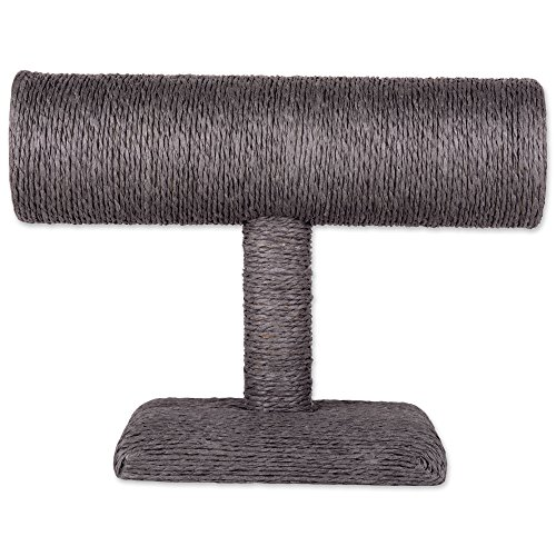 T-bar Stand (Burlap/Twine Necklace, Bracelet and Watch Display Organizer T-Bar Stand for Pendant, Statement or Display Jewelry - Short, Gray)