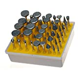 Preamer 50 pcs1/8'' Shank Diamond Coated Rotary Grinding Head Jewelry Lapidary Burr Set Fits Dremel Rotary Tools