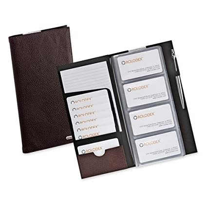 Amazon rolodex leather low profile business card case 96 card rolodex leather low profile business card case 96 card brown 76655 colourmoves