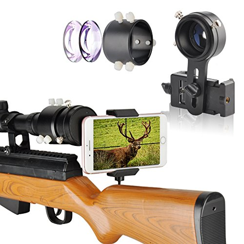 SOLOMARK Rifle Scope Adapter Phone Mount Camera Mounting Advanced Optical Glass Magnification System