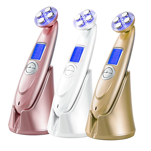 Rechargeable RF Ultrasonic LED Facial Massager Wrinkle Re...