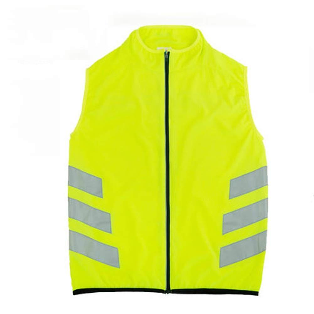 AINIYF Sicherheits-reflektierende laufende Rad-Weste ultraleichte Bequeme Motorrad-reflektierende Weste Fluoreszierende Sicherheitskleidung
