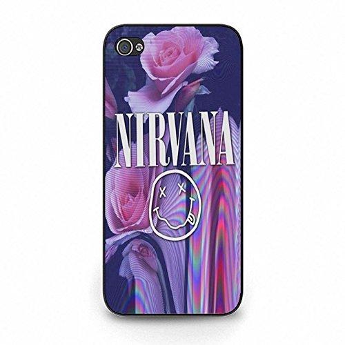 hülle Handyhülle Shell Beautiful Flowers Grunge Rock Band Nirvana Phone hülle Handyhülle Cover for Iphone 5c Nirvana Unique Design,Telefonkasten SchutzHülle