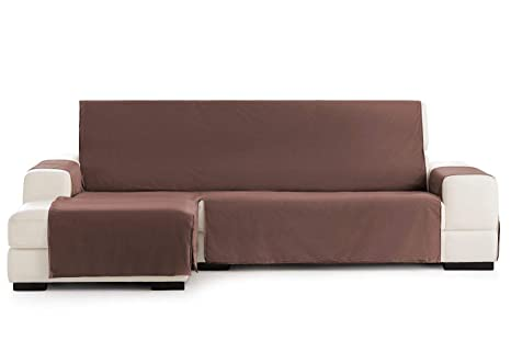Funda Cubre Chaise Longue Práctica Impermeable Modelo Oviedo, Color Marrón-07, Medida Brazo Derecho – 290cm (Mirándolo de Frente)