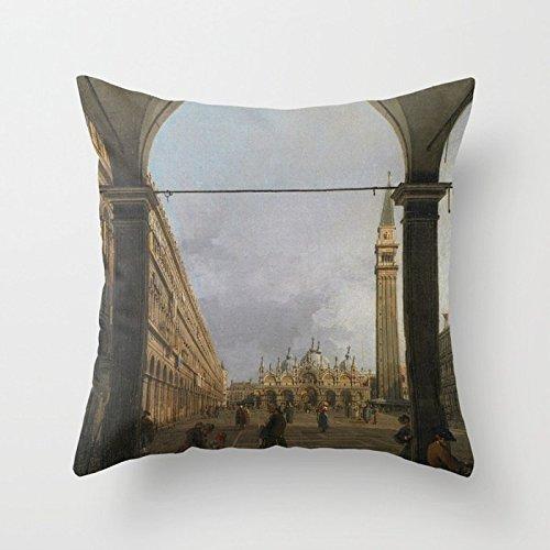 Huisfa Piazza San Marco Throw Pillow Covers Cushion Case 18×18 inch