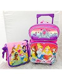 "Princess 16"" Large Rolling Backpack and One Bonus Gift Set"