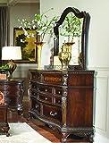 Homelegance Bonaventure Park 7 Drawer Dresser & Mirror in Warm Cherry - (Dresser Only)