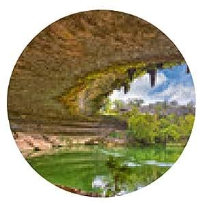 alfombrilla de ratón Hamilton Pool agujero del fregadero, Texas, EE.UU. - ronda - 20cm