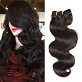 Moresoo 18 Inch Dark Brown Color Wavy Clip in Hair Extensions Human Hair Body Wave Clip in Real Hair Extensions Thick Full Head Remy Clip in Human Hair Extensions 7 Pieces 120g
