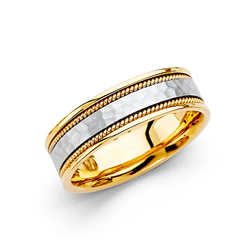 Rope Two Tone Ring - 8