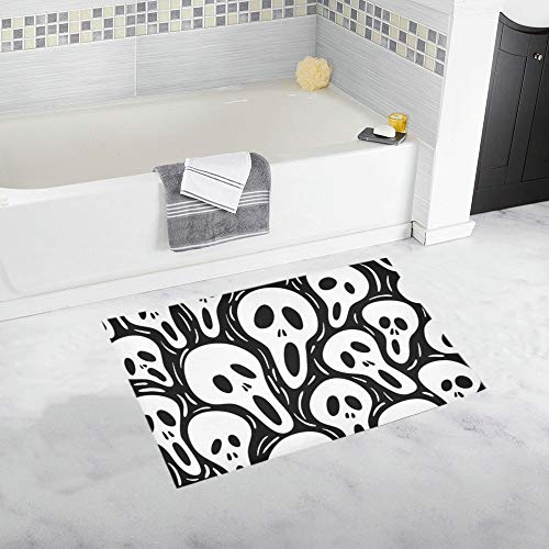 Scary Wallpaper Custom Non-Slip Bath Mat Rug Bath Doormat Floor Rug for Bathroom 20 X 32 Inch -