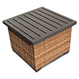 TKC Laguna Patio Wicker End Table in Caramel