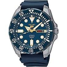 Seiko Reloj Analógico para Hombre de Automático con Correa en Caucho SRP605K2