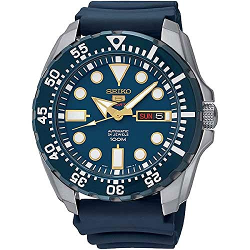 Seiko Men's Diver Automatic SRP605K2 Blue Rubber Automatic Fashion Watch ()