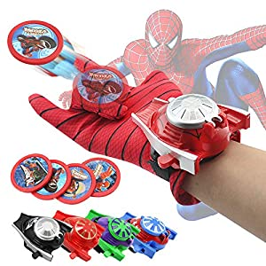 VNUSToys Marvel Avengers Toy Super Hero Glove Launcher Props Captain America Spiderman Hulk Ironman Cosplay Launcher for…