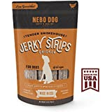 """Gourmet Jerky Dog Treats - MADE IN USA with American Chicken. Slow Smoked & Tender 6"""" Jerky Strips. No Artificial Fillers, Wheat, Corn or Soy 