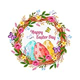 Pulison Easter Wall Decals Wall Stickers Lovely Easter Sticker Baby Room Decoration, Fridge Window Cling Decals Easter Home Decor