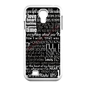 Bloomingbluerose LOVE ONE DIRECTION Samsung Galaxy S4 Cases Unique For Guys, Case For Samsung Galaxy S4 Mini For Girls [White]