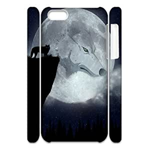 LJF phone case C-Y-F-CASE DIY Design Howling Wild Wolf Pattern Phone Case For iPhone 5C