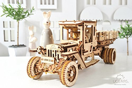 Ugears UGM-11Truck Brain Teasers, 3D DIY Wooden Puzzles For Teens and Adults, Construction Kit Self-Assembly Mechanical Model