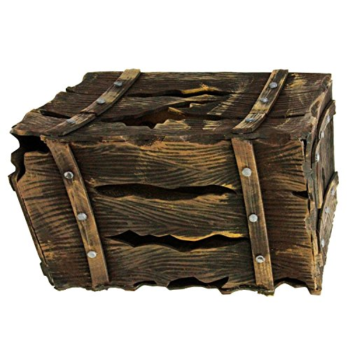 [Halloween Haunters Animated Pirates Crate Box Chest, Screaming Beating Prop Decoration - Howls, Thumps, Lights Up - Battery Operated] (Halloween Prop)