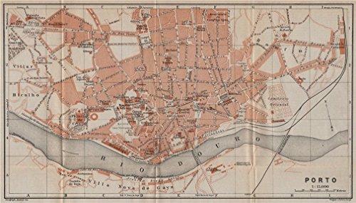 oporto-porto-antique-town-city-plano-de-la-cidade-portugal-mapa-1913-old-map-antique-map-vintage-map