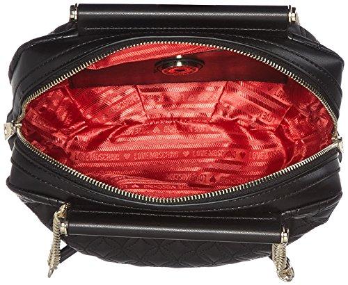 Love Moschino Borsa Quilted Nappa Pu Nero Gal oro - Borse A Spalla Donna Multicolore black-gold 10x23x30 Cm b X H T