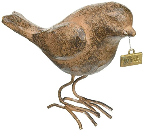 creative-co-op-bird-with-wish-tag-brown-resin
