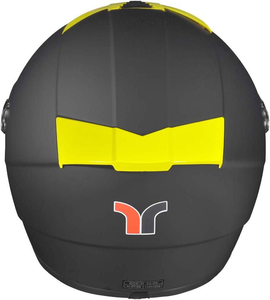 63-64 RT-823 Integralhelm Motorradhelm Integral Motorrad Roller Quad Helm rueger Farbe:Matt Schwarz Ventfarbe:Burgund Gr/ö/ße:XXL