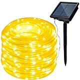 Description: This solar rope light has a high density and a large enough solar panel to easily charge the battery even on cloudy days. In addition, high-capacity batteries make our ropes brighter and last longer than the same solar lights on the mark...