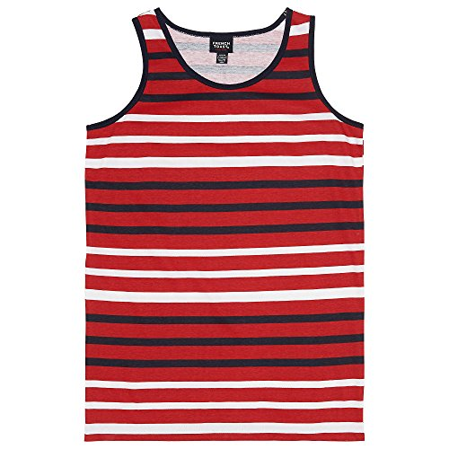 Scarlet Kids Shirt (French Toast Big Boys' Striped Tank Top, Scarlet Ruby, L (10/12))