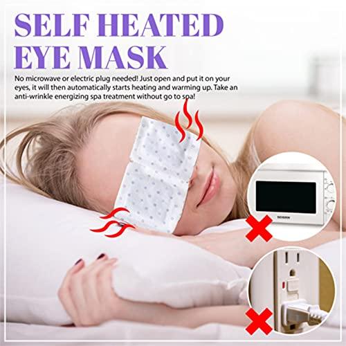 Heat Dissipation Eye Mask, Eye Shield, Hot Compress Fatigue Steam Eye Mask (White-10)