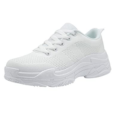 Moda Fondo Grueso Zapatos Casuales,ZARLLE Color sólido Malla ...