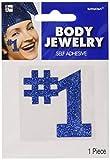 Amscan (Amsdd #1'' Glitter Body Jewelry Accessory (Piece), Blue, 24