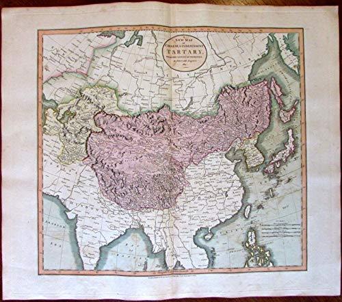 Chinese Tartary Tibet Bhutan Nepal China 1811 John Cary lovely large old map