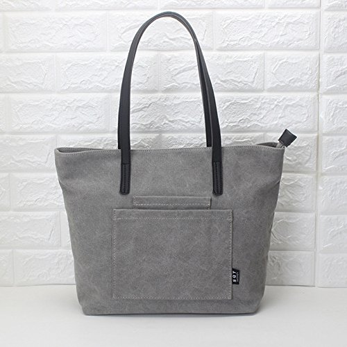 Bolsa Girl niña de old diseño Lona para Gray de Old Black Mujer gray BISSER Black SqrqwgT5xp