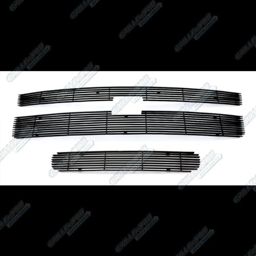 APS Compatible with 2011-2014 Chevy Silverado 2500HD 3500HD Black Billet Grille Grill Combo Insert C61031H