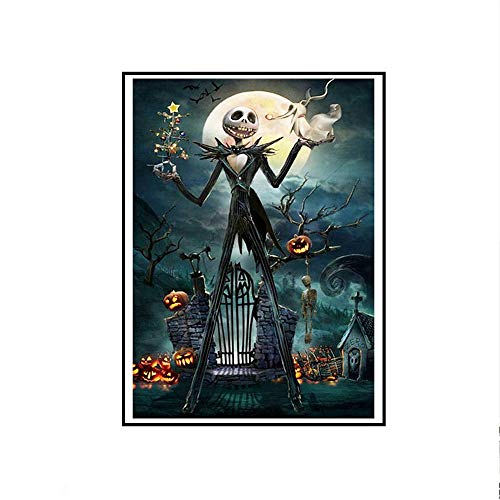5D Diamond Painting Tool Full Drill Diamond, Vertily Paintings DIY for Halloween Decorations Art Wall Home Decor, Scary Squash Man - 30x40cm -