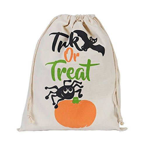 Mosunx Halloween Candy Bag Gift Bag Bundle Pocket Drawstring Storage Bag Travel Bag (C)