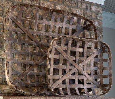 Tobacco Baskets Set of 2 by Farmhouse Lane