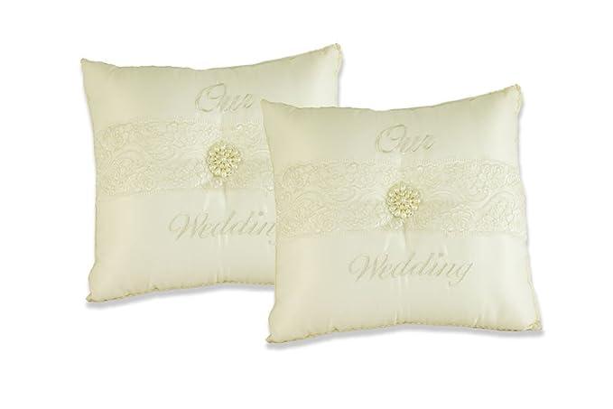 Amazon.com: Nuestras almohadas de rodillera de boda Juego de ...