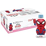 evian Natural Spring Water Spider-Man Edition 310 ml 10.48 Ounce 24 Count, Naturally Filtered Spring Water in Individually-Sized Spider-Man Water Bottles