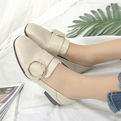 Flat apricot JULY Slip Shoes Anti T Comfort Loafers Penny Women's Shoes Driving Retro Slip Dress On YUZxaU