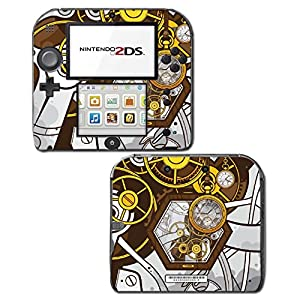 Retro Steampunk Time Machine Pocket Watch Art Video Game Vinyl Decal Skin Sticker Cover for Nintendo 2DS System Console